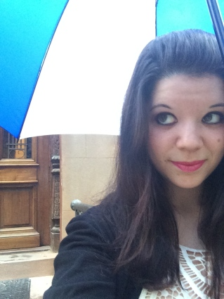 When life gives you rainy days, take cute umbrella selfies.